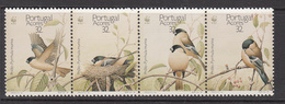 1990 Portugal Azores WWF Bullfinch Strip Of 4 MNH - Ongebruikt