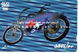 Carte Prépayée Japon Moto Motor Sports - Sport  Card (G 467) - Motos