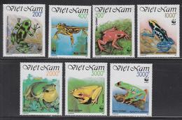 1991 Vietnam WWF Frogs Set Of 7 MNH - Ongebruikt