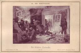 Photographie Sur Carton Fort - Les Dernières Cartouches - Peinture De 1873  De A De Neuville - Militaria - Photos
