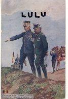 MILITARIA 263 : état Major Belge , Général Et Capitaine : édit. L V C Dans Un Drapeau Belge - Reggimenti