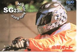 Carte Prépayée Japon Moto Motor Sports - Sport  Card (G 468) - Motos