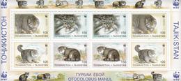 1996 Tajikistan WWF  Cats Miniature Sheet Of 8 MNH - Ongebruikt