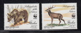 1991 Italy WWF Bear & Stag Set Of 2 MNH - Ongebruikt