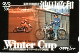 Winter Cup Carte Prépayée Japon Moto Motor Sports - Sport  Card (G 470) - Motos