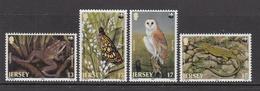 1989 Jersey WWF Butterfly, Fog, Owl & Lizard Set Of 4 MNH - Ongebruikt