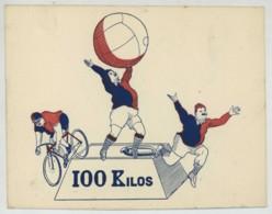 Faire-part Du Club Amical & Sportif Des 100 Kilos De Paris , 2 Rue De La Folie-Méricourt . Années 20 . Sport De Masse . - Faire-part
