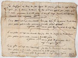 VP13.303 - VARS 1763 - Quittance - Mr Le Fondé De Procuration De Mgr L'Evêque D'ANGOULEME - Droit De Pêche SEGUIN - Manuscripts