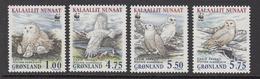 1999 Greenland WWF Snowy Owl Set Of 4 MNH - W.W.F.