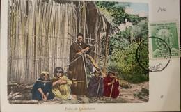 O) 1900 CIRCA-PERU, ISOLATED TRIBES IN THE AMAZONIAN JUNGLES OF PERU -INDIGENOUS CULTURE QUINCHACRE. STAMP MANCO CAPAC-I - Peru