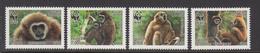 2007 Laos WWF Gibbons Set Of 4 MNH - Ongebruikt