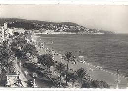 CPSM FORMAT CPA. NICE . LA PROMENADE DES ANGLAIS . AFFR LE 15-6-1957 .  2 SCANES - Panoramic Views
