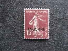TB Timbre D'Andorre N°7, Neuf XX. - Andorre Français