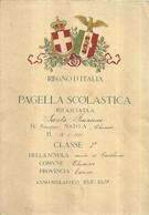 """1817 """"REGNO D'ITALIA-PAGELLA SCOLASTICA-ANNO SCOLASTICO 1928-1929"""" PAGELLA ORIGINALE - Diploma & School Reports"""