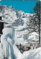 1964 Italy To Israel Vintage Postcard Cervinia Ski Resort - Italy