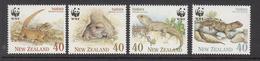 1991 New Zealand WWF Tuatara Lizards Set Of 4 MNH - Ongebruikt