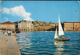 1963 Italy To Israel Vintage Postcard Trieste Shore - Trieste