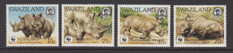 1987 Swaziland WWF Rhinos Set Of 4 MNH - Ongebruikt