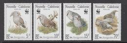 1998 New Caledonia WWF Kagu Birds Set Of 4 MNH - Ongebruikt
