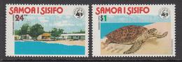 1978 Samoa WWF Hawksbill Turtle & Hatchery Set Of 2 MNH - Ongebruikt