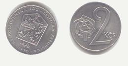 TCHÈCOSLOVAQUIE : Tchecoslovaquie 2 Koruny 1990 - Tschechoslowakei
