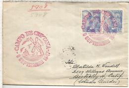 ESTADOS UNIDOS USA 1935 CC DESDE LA EXPEDICION BYRD A LA ANTARTIDA MAT BASE LITTLE AMERICA AL DRSO MAT TRANSITO - Molinos