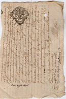 VP13.305 - Cachet Généralité De LIMOGES - Acte De 1765 à Déchiffrer - Cachets Généralité