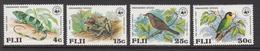 1979 Fiji WWF Iguana, Tree Frog, Warbler Bird, Parrot Set Of 4 MNH - Ongebruikt