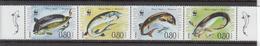 2004 Bulgaria WWF Fish Strip Of 4 MNH - Ongebruikt