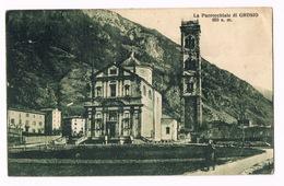 Cartolina - Postcard / Viaggiata - Sent / La Parrocchiale Di GROSIO (non In Perfette Condizioni) - Italy