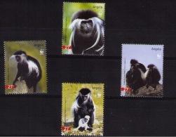 ANGOLA  2004 WWF Monkeys - Ongebruikt