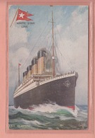OLD POSTCARD - SHIPPING -        WHITE STAR LINE - T.S.S. OLYMPIC - Paquebots