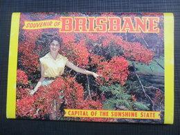 A SOUVENIR OF BRISBANE CAPITAL OF THE SUNSHINE STATE, BOOKLET, 12 PHOTO - Brisbane