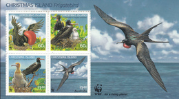 2010 Christmas Island WWF Frigate Birds Souvenir Sheet Of 4 MNH - Ongebruikt