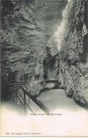 30402. Postal MEIRINGEN (Onterlaken) Berne, Suisse. Cuevas, Aareschlucht, Glaciar - BE Berne