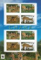 2012 Ghana WWF Reedbuck Souvenir Sheet Of 8 2 Blocks Of 4 MNH - Ongebruikt