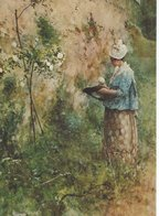 """Painting - Carl Larsson. """"The Old Wall"""".  B-3308 - Paintings"""