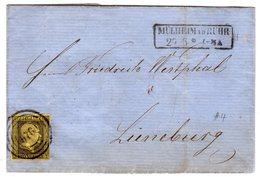 Preußen: Fernbrief Von Mülheim/R. Nach Lüneburg - Preussen