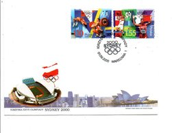 POLOGNE FDC 2000 J O DE SIDNEY - Sommer 2000: Sydney - Paralympics