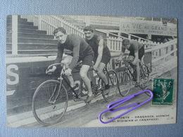 CYCLISME : DARRAGON Entraîné Par SCHWAB Et CARAPEZZI En 1912 - Cyclisme