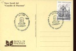 39703 Italia Special Postmark 1996 Piacenza,  Showing  The Pope's  Urban II  (french Pape)  Papa Urbano II - Christianisme