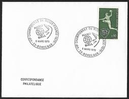 1970 - FRANCE - Cover + Y&T 1629 [Handball] + BORDEAUX - Francia