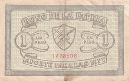Cuba  Bono De La Patria 1 Peso - Cuba