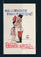 Carte Semi Moderne  Vive La Rencontre Franco Soviètique ! - Effel