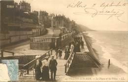 2 CPA 14 Calvados Villers Sur Mer La Digue Et Les Villas - 24 - LL. - Normandie Circulée 1905 + La Plage 1914 - Villers Sur Mer