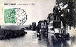 TURQUIE: Belle Oblitération Bilingue De PERA-DEPART / CPA De 1924 TB - 1921-... République