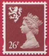 1998 GB Regional 26p Definitive Machin Stamp - Scotland -  2 Phosphor Bands - Perforation 14 - SG S91a UM / MNH - Regional Issues