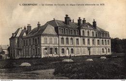 CHAMPIGNY  Le Château De Coeuilly Ou Siègea L'armée Allemande En 1870.  Carte écrite En 1917  2 Scans  TBE - Champigny Sur Marne