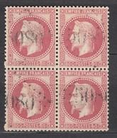 Bloc 4 N32 Obl GC5080 Alexandrie - Luxe - Signé Calves - 1863-1870 Napoleone III Con Gli Allori
