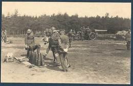 Armée Belge - Artillerie Lourde - SM Le Roi Se Faisant Donner Des Indications Relatives Aux Munitions - Manoeuvres